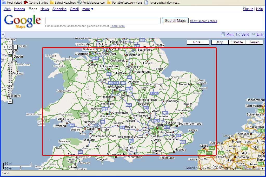 on downloading google map