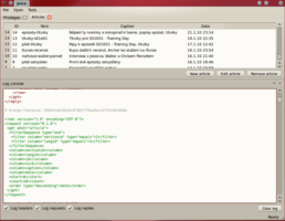 XML protokol - požadavek na seznam článků