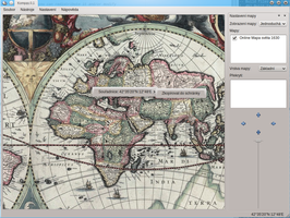 Historická mapa ve stereografickém zobrazení