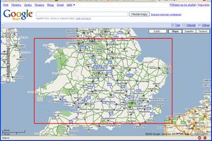 Vybraná oblast mapy